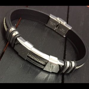 """Other - 8"""" Steampunk Stainless Steel Bracelet/Ships Quick!"""